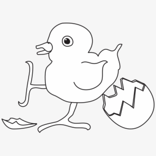 Baby bird eggs clipart graphic black and white stock Baby Bird Hatched Egg Newborn Young Chicks - Infant #1818820 - Free ... graphic black and white stock