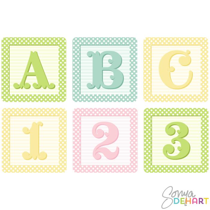 Baby blocks alphabet clipart. Block kid vector shaby