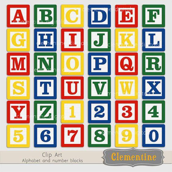 Baby blocks alphabet clipart. Blue clip art images