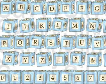 Clipartfest digital . Baby blocks alphabet clipart