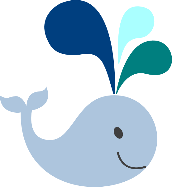 Clipart baby blue banner stock Baby Whale Clip Art | little light blue whale clip art | baby shower ... banner stock