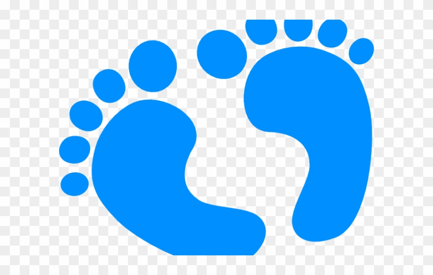 Baby boy clipart blue clip transparent Baby Boy Clipart - Blue Baby Footprints Icon - Png Download ... clip transparent