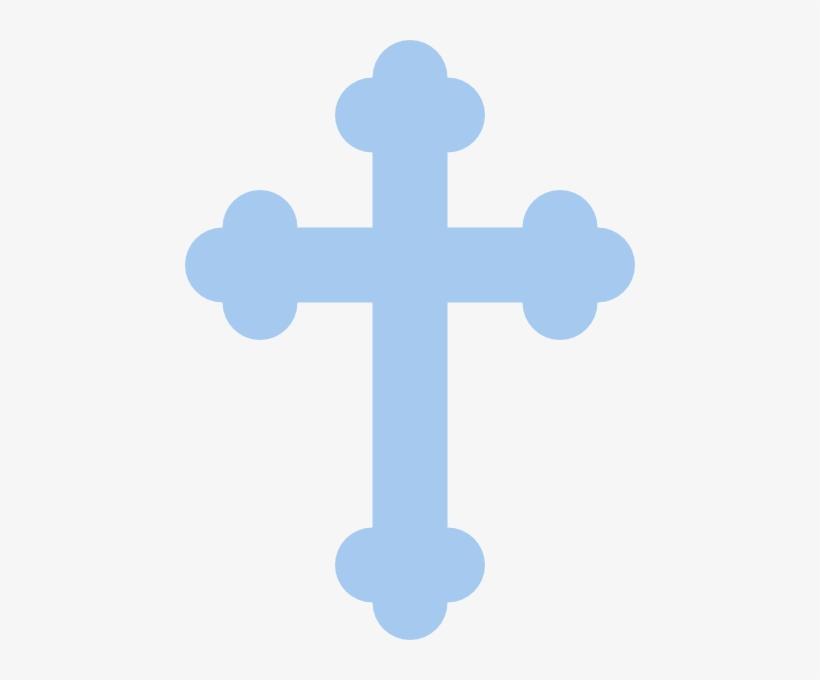 Baby blue cross clipart