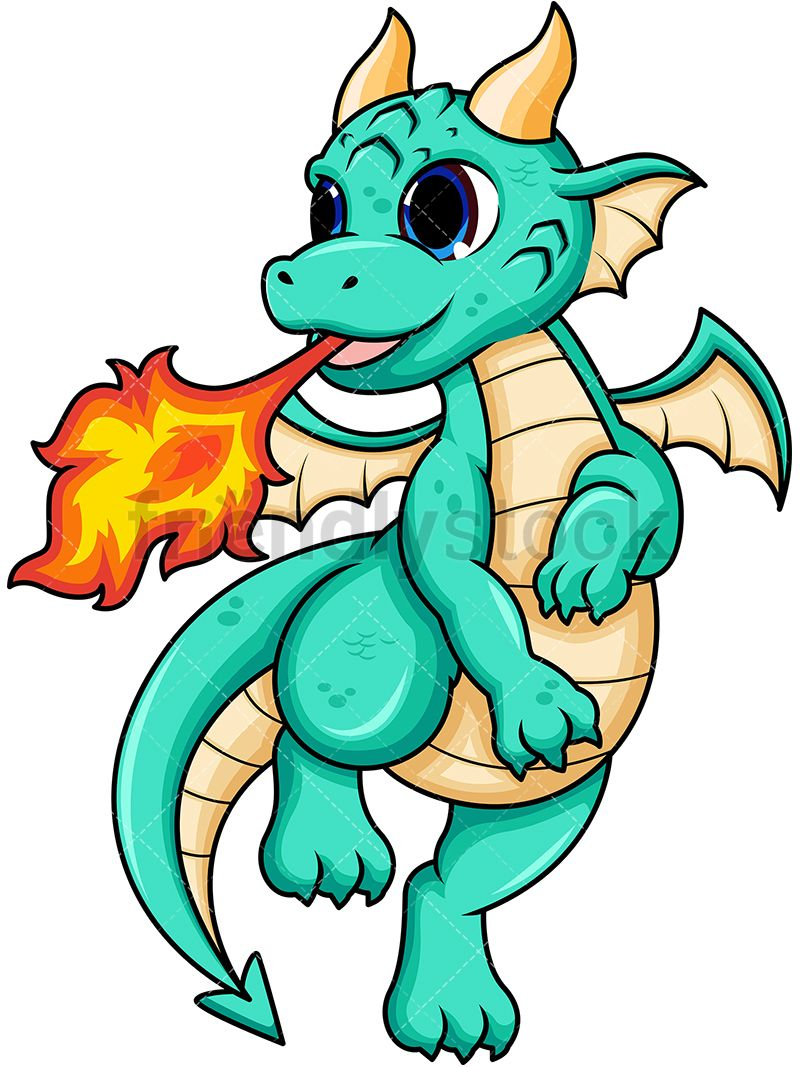 Baby blue dragon clipart free stock Female Dragon Breathing Fire | Clip Arts in 2019 | Baby dragon ... free stock