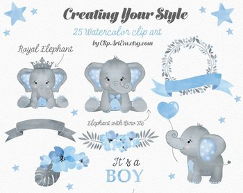 Baby blue elephant clipart graphic Baby Blue Gray Elephant Clipart collection 1da graphic