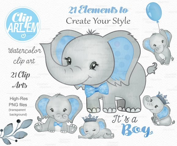 Baby blue elephant clipart vector transparent stock Baby blue elephant its a boy clipart vector transparent stock