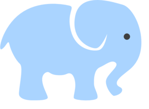 Blue elephant clipart baby shower clip free Baby Blue Elephant Clip Art at Clker.com - vector clip art online ... clip free