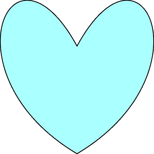 Baby blue heart clipart jpg black and white download Light Blue Heart Clipart | Clipart Panda - Free Clipart Images jpg black and white download