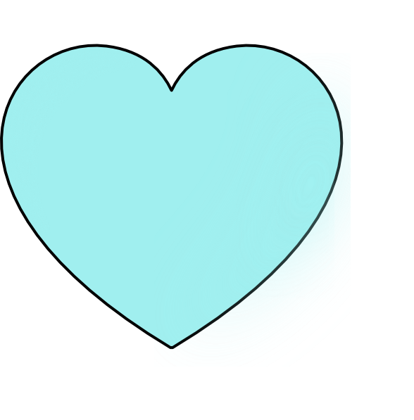 Light blue heart clipart picture transparent download Light Blue Heart Clip Art at Clker.com - vector clip art online ... picture transparent download