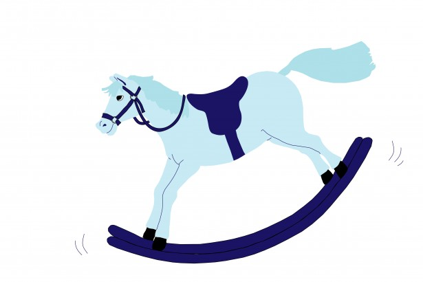 Baby blue rocking horse clipart black and white download Rocking Horse Blue Clipart Free Stock Photo - Public Domain Pictures black and white download