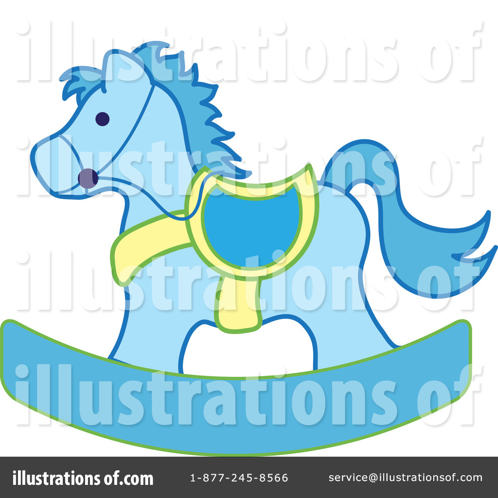 Baby blue rocking horse clipart graphic library Rocking Horse Clipart #99114 - Illustration by Pams Clipart graphic library