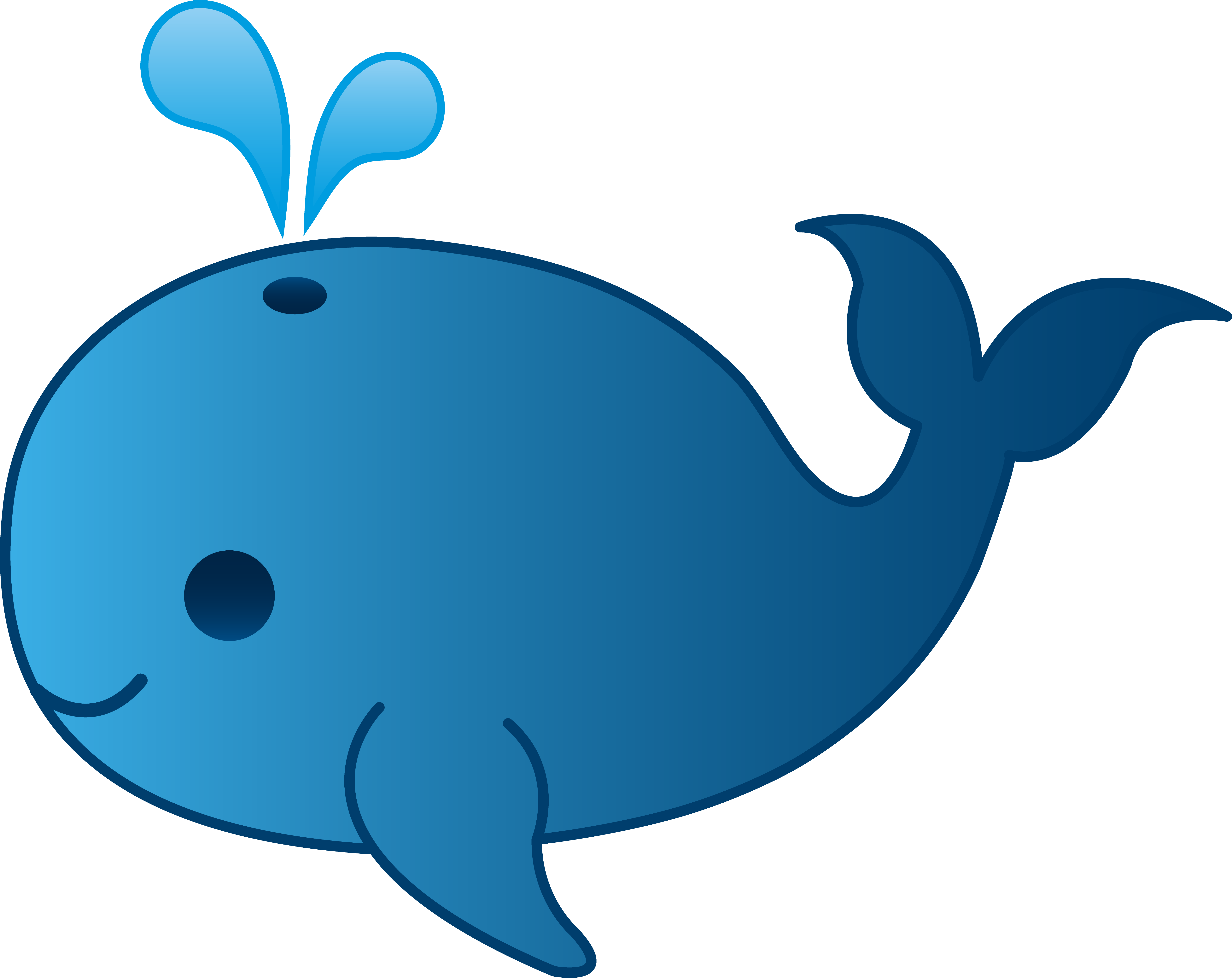 Whale clipart good morning