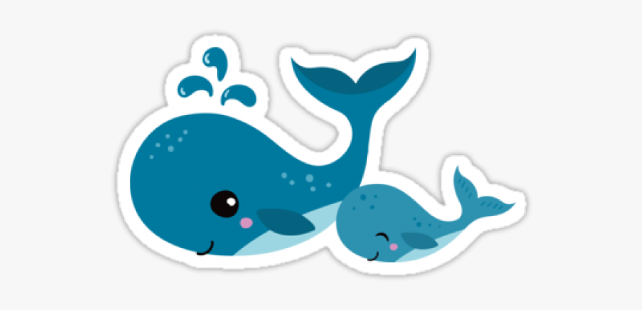Blue whale clipart clip black and white library Blue Whale Clipart Mommy Baby - Cute Baby Whale Cartoon #626038 ... clip black and white library