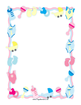 Pink and blue baby bottle clipart