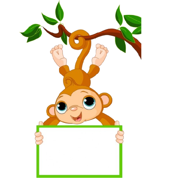 Monkey in tree clipart image transparent stock Cute Funny Cartoon Baby Monkey Clip Art Images. All Monkey Cartoon ... image transparent stock