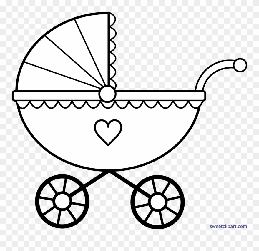Baby book clipart no background clip art black and white library Clip Transparent Library Baby Carriage Clipart - Baby Carriage ... clip art black and white library