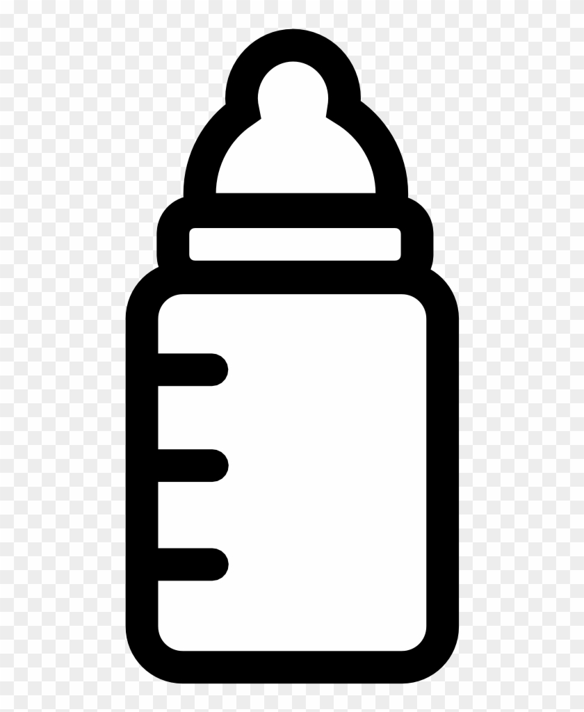 Baby bottle black and white clipart clip art royalty free Baby Shower Water Bottle Clipart Black And White - Baby Bottle ... clip art royalty free