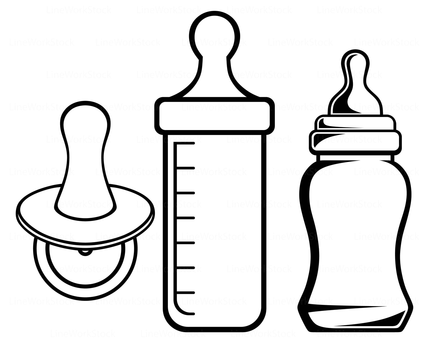 Baby bottle black and white clipart graphic library library Il fullxfull 17mkw baby bottle clipart jpg - Clipartix graphic library library