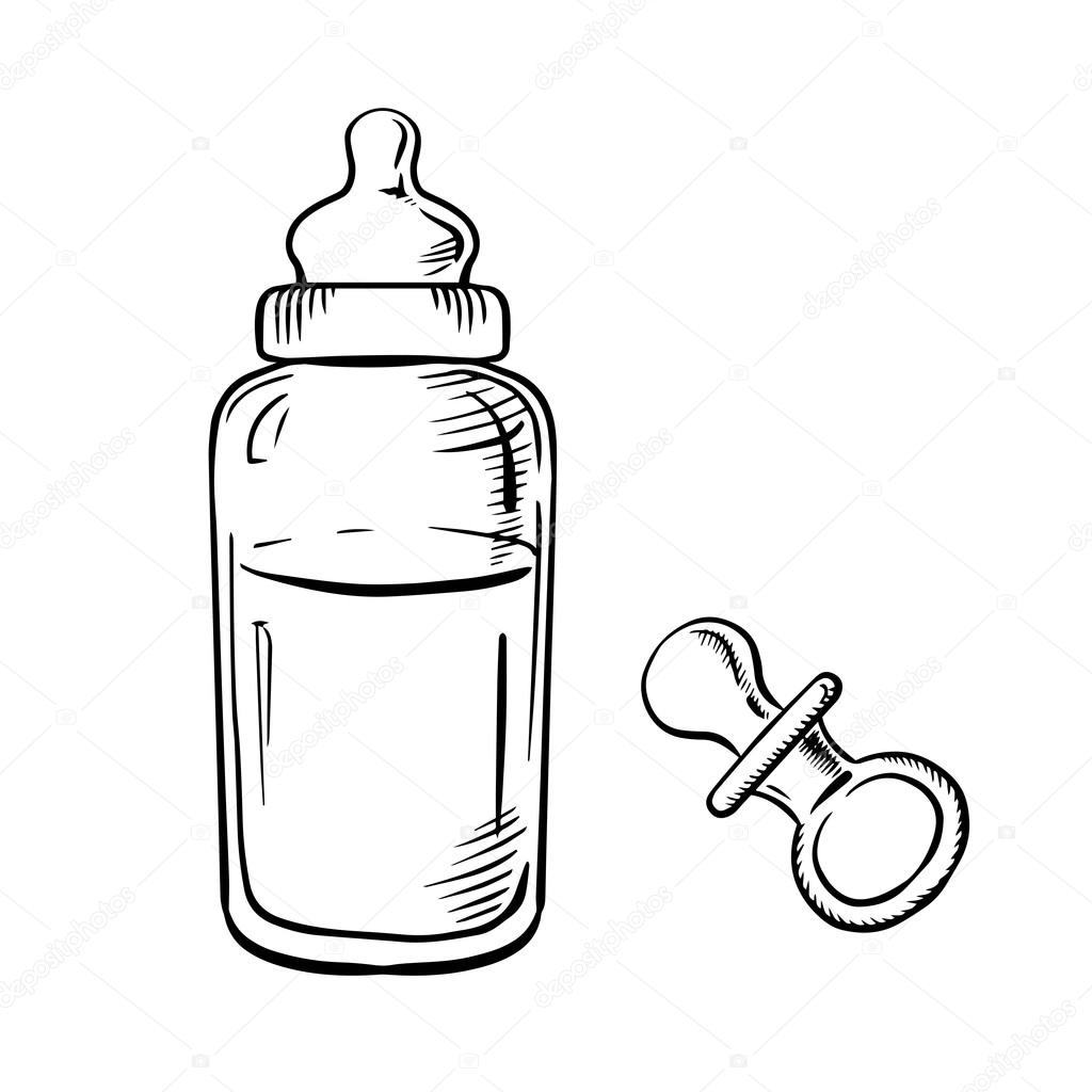 Baby bottle black and white clipart free stock Baby bottle clipart black and white 6 » Clipart Station free stock