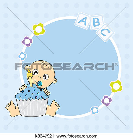Baby boy 1st birthday clipart picture free download Clipart of Celebration birthday card k9494462 - Search Clip Art ... picture free download