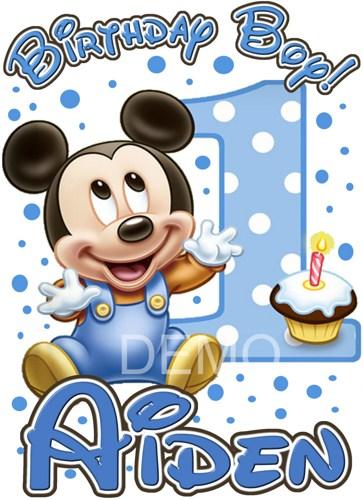 Baby boy 1st birthday clipart jpg black and white Baby Mickey 1st Birthday Clipart - Clipart Kid jpg black and white