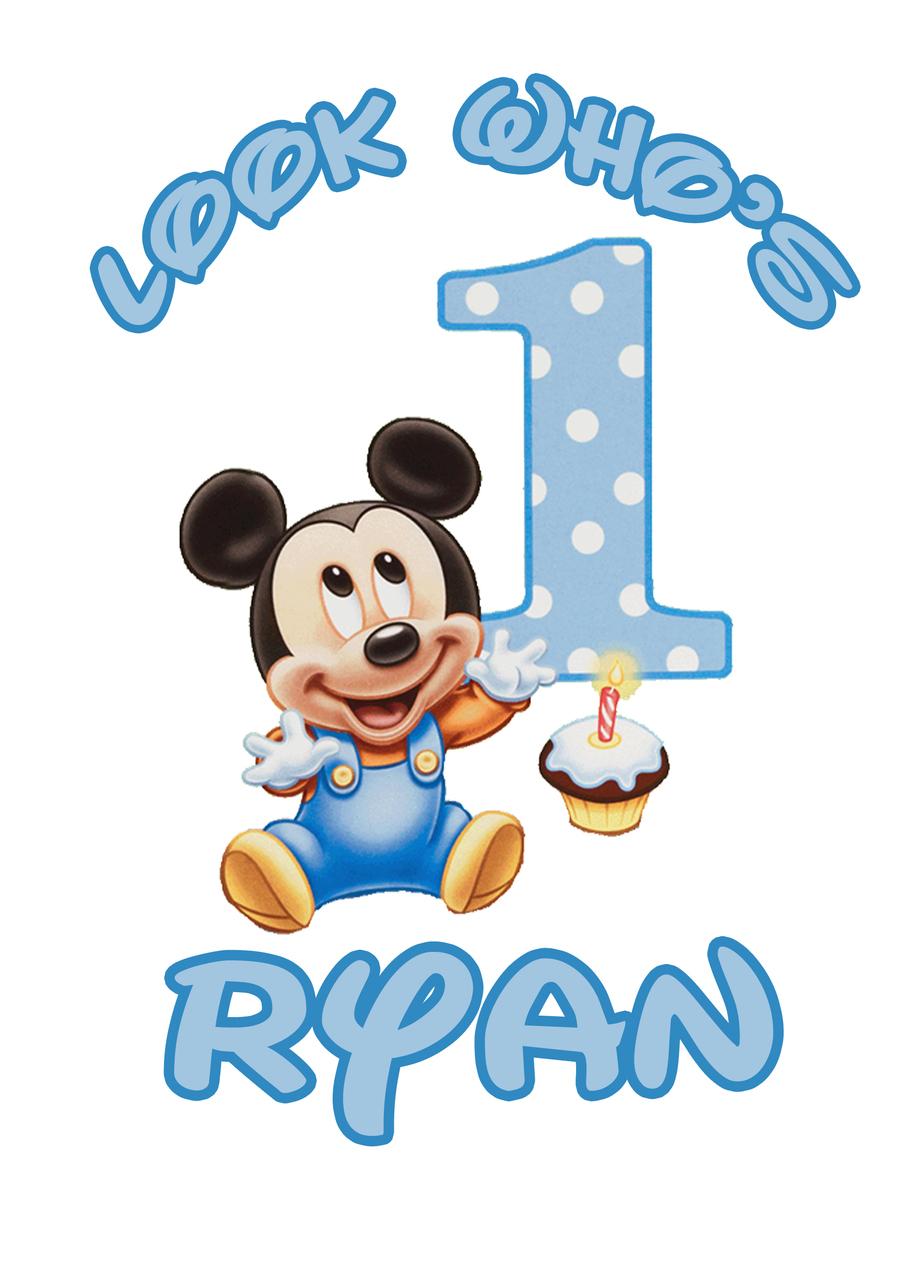 Baby boy 1st birthday clipart clip art free Baby Mickey 1st Birthday Clipart - Clipart Kid clip art free