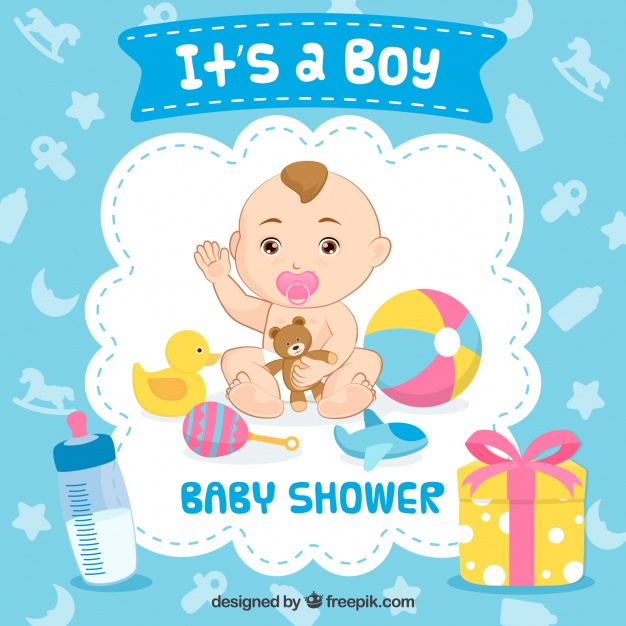 Baby boy background free clipart clipart library It\'s a boy baby shower background Vector | Free Download clipart library