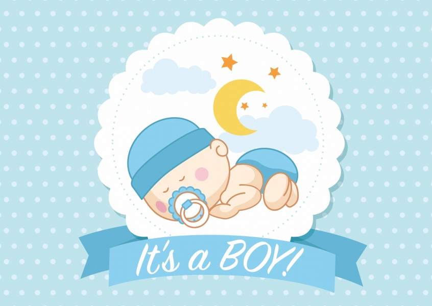 Baby boy birth announcement clipart transparent library It\'s a boy | Baby & Family Cards | Send real postcards online transparent library