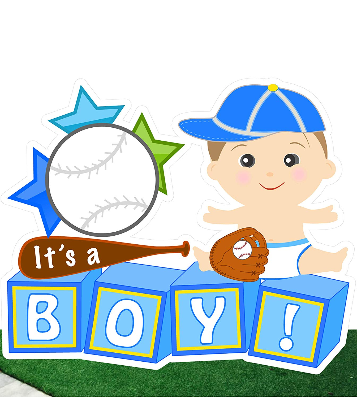 Baby boy birth announcement clipart svg transparent Amazon.com : Cute News It\'s a Boy Baby Baseball Yard Sign ... svg transparent