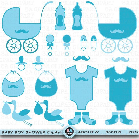 Baby boy birth announcement clipart clipart freeuse stock Baby Shower Boy Clipart \