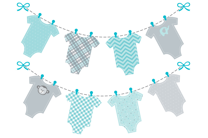 Free boy baby shower clipart