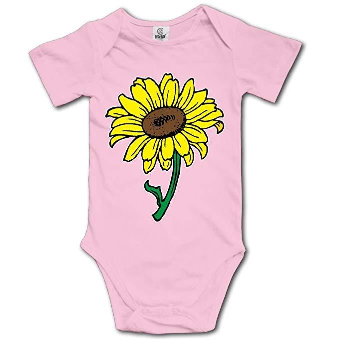 Amazon.com: WWTBBJ-B Sunflower Clipart Funny Baby Boy Girl Short ... clipart download