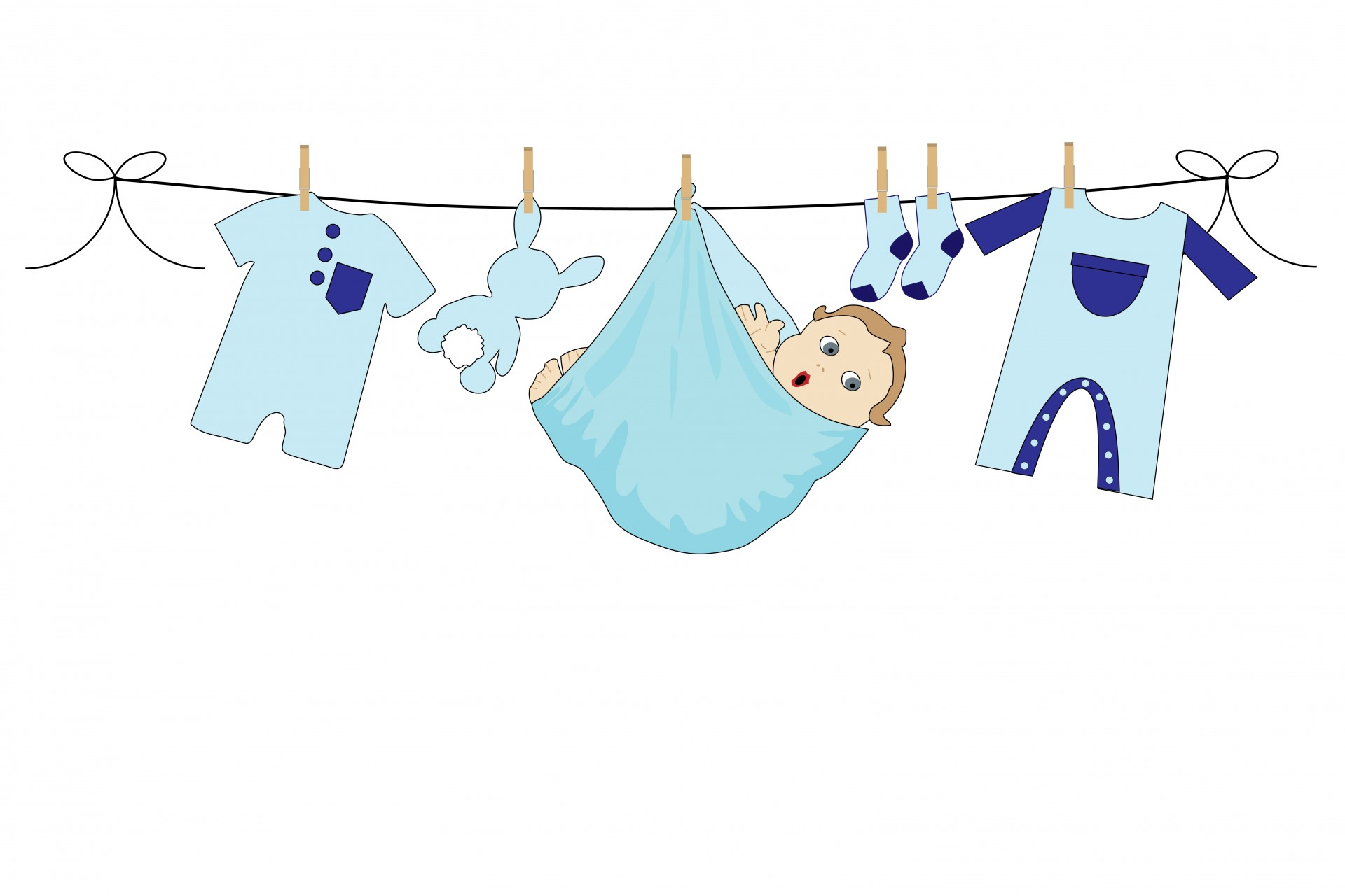 Baby boy clothes clipart free png library Baby,boy,blue,clothes,line - free photo from needpix.com png library