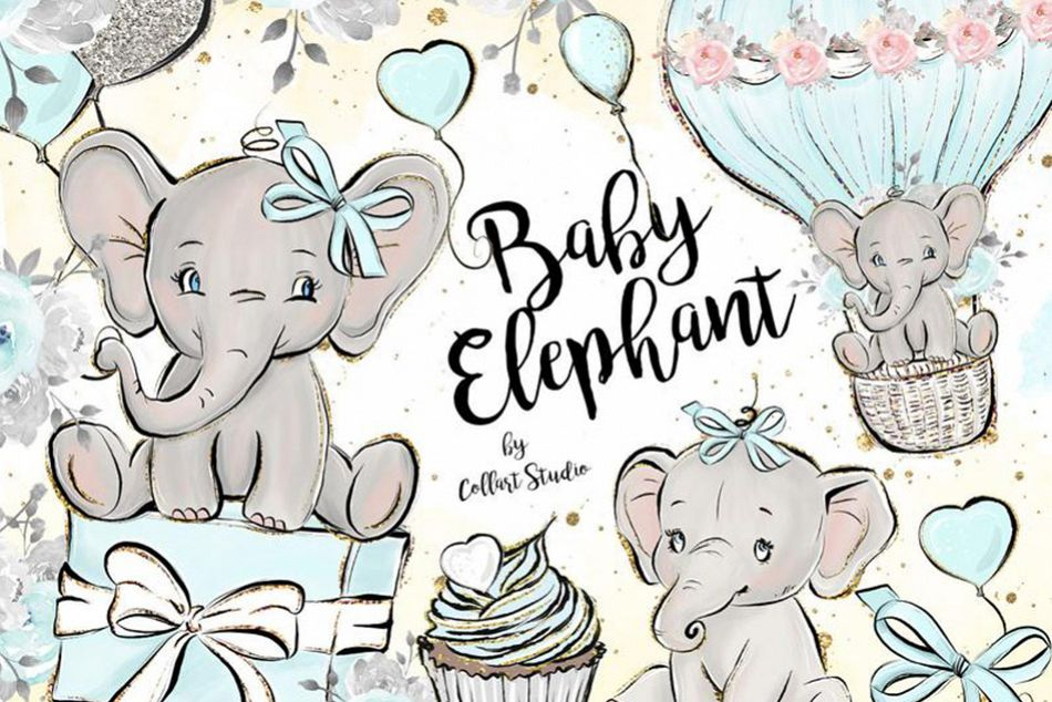 Birthday elephant images clipart graphic free download Baby Elephant clipart, Baby boy clipart, birthday clipart graphic free download
