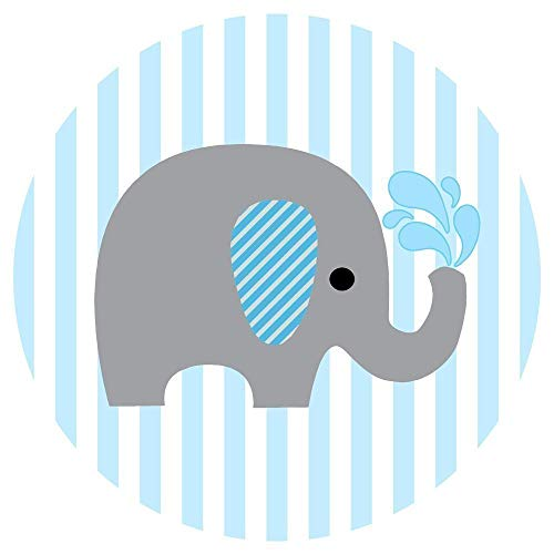 Baby boy elephant clipart royalty free library Amazon.com: Baby Boy Elephant Stickers for Baby Shower and Birthday ... royalty free library