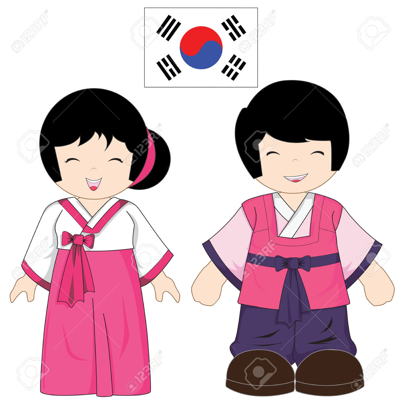 Baby boy hanbok clipart vector free library Collection of Korean clipart | Free download best Korean clipart on ... vector free library