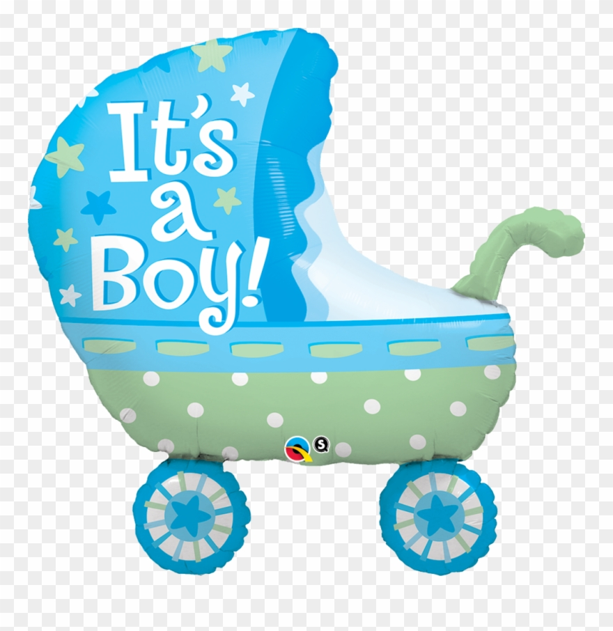 Baby boy in stroller clipart vector royalty free library Zoom - Its A Boy Stroller Clipart (#732151) - PinClipart vector royalty free library