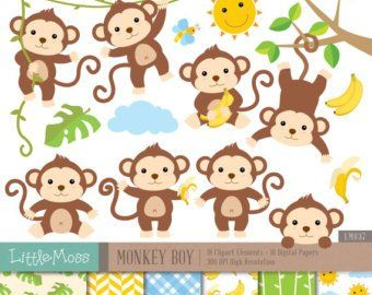 Baby boy monkey clipart graphic black and white stock Monkey Digital Clipart Monkey Clipart Baby Monkey clipart | crazy of ... graphic black and white stock