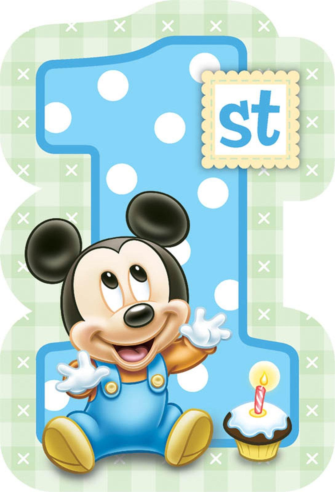 Baby boy number 1 clipart. Clipartfest disney mickey