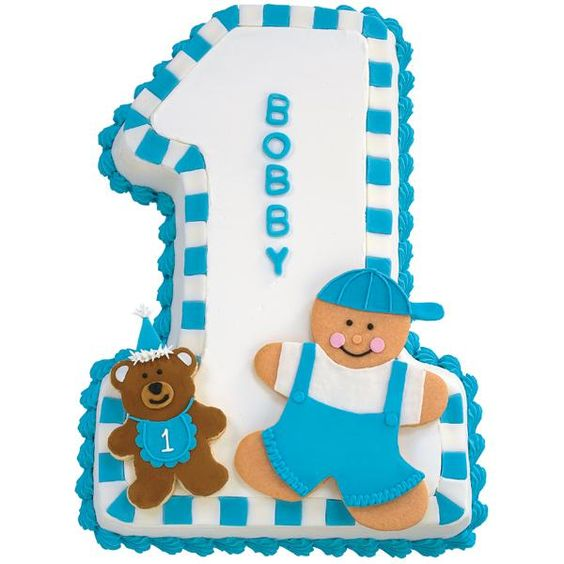 Cake birthdays and cakes. Baby boy number 1 clipart