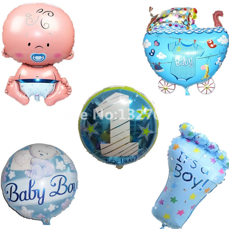 Baby boy number 1 clipart image black and white stock Aliexpress.com : Buy 5 designs foil balloons Baby girl baby boy ... image black and white stock