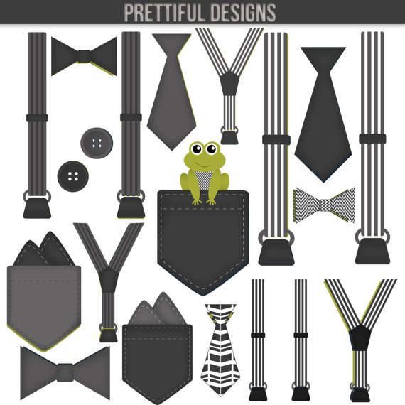 Baby suspenders and bow tie clipart clipart royalty free library Boy Onesie Accessories Clip Art Pocket Handkerchief Suspender Tie ... clipart royalty free library