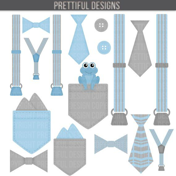 Baby suspenders and bow tie clipart clip art black and white Boy Onesie Accessories Clip Art Pocket Handkerchief Suspender Tie ... clip art black and white