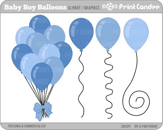 Baby boy shower balloons clipart png Free BABY BOY SHOWER CLIPART, Download Free Clip Art, Free Clip Art ... png