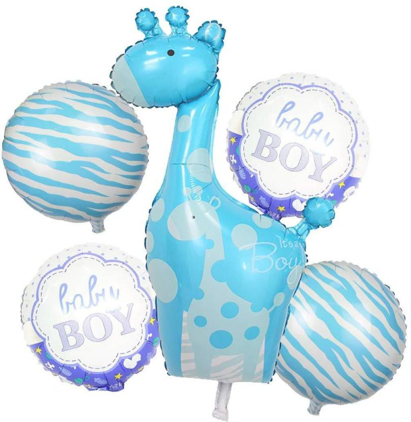 Baby boy shower balloons clipart graphic Flipkart.com | Shopperskart Printed Baby Boy Air-Toy-Foil-Helium ... graphic