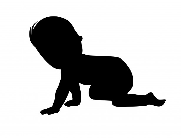 Baby boy silhouette clipart banner library library Baby Boy Crawling Silhouette Free Stock Photo - Public Domain Pictures banner library library