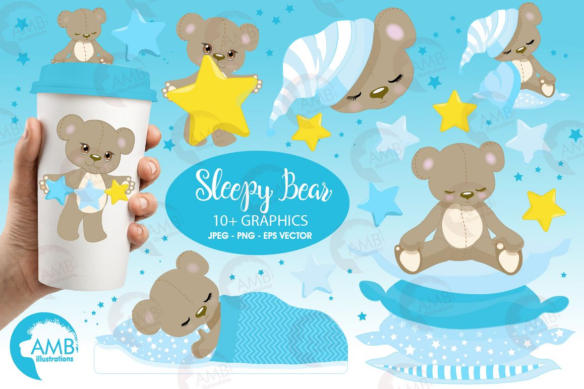 Baby boy teddy bear clipart clip black and white stock Teddy bear, nursery, baby boy, baby blue bear, clipart, graphics,  llustrations AMB-980 clip black and white stock