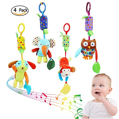 Baby boy teetheres clipart picture free stock 4 Pieces Baby Hanging Rattle Toys - Newborn Car Crib Hanging Bell ... picture free stock
