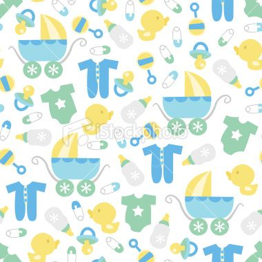 Baby boy wallpaper clipart clip Retro Baby Boy Seamless Pattern Background | Background Papers ... clip