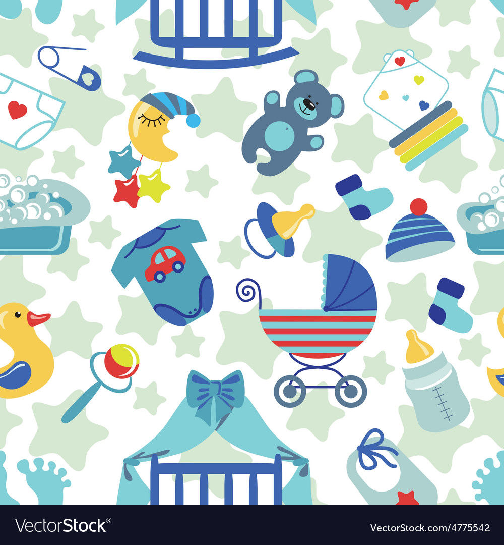Baby boy wallpaper clipart clip transparent library Newborn Baby boy seamless pattern clip transparent library